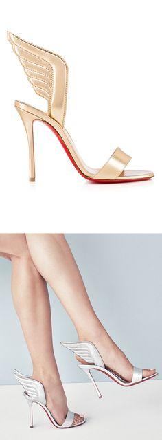Winged Louboutin Heels