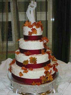 Fall wedding cake by 2510 restaurant