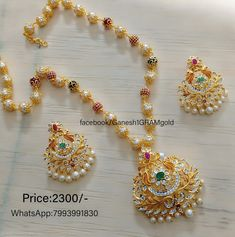 Pearls with cz stones pendent set mala. customers pls update new WhatsApp number. Pearl Necklace Designs, Gold Earrings Designs, Gold Jewellery Design, Bead Jewellery, Stone Necklace, Pearl Jewelry, Pendant Jewelry, Diamond Jewelry, Beaded Jewelry