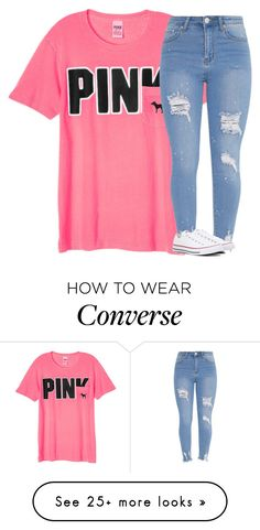 """""""Untitled #3423"""" by laurenatria11 on Polyvore featuring Victoria's Secret and Converse"""