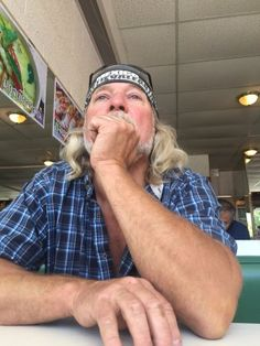 Deep thinker, waiting for his lunch! Bangkok Thai,  259 Island Highway E, Parksville, BC
