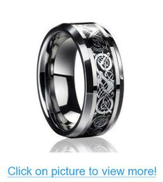 8MM Dragon Design Tungsten Carbide Wedding Band Ring (Available Sizes 5-14 Including Half Sizes) #8MM #Dragon #Design #Tungsten #Carbide #Wedding #Band #Ring #Available #Sizes #5_14 #Including #Half