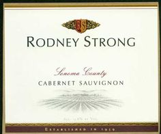 Rodney Strong Cabernet Sauvignon. This wine remains one of my old standbys.