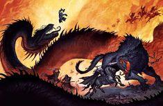 Tagged with thor, giants, odin, norse mythology, johan egerkrans; Norse gods by Johan Egerkrans Vikings, Medieval Fantasy, Dark Fantasy, Fantasy Creatures, Mythical Creatures, Jormungand Tattoo, Loki, Vegvisir, Asatru
