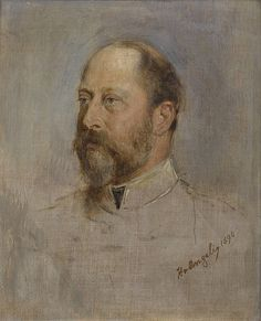"""STUDY OF HRH THE PRINCE OF WALES ALBERT EDWARD OF SAXE-COBURG AND GOTHA, """"BERTIE"""""""