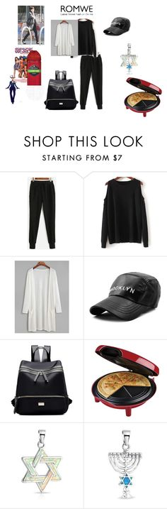 """""""Romwe draw string pants contest"""" by naomig-dix ❤ liked on Polyvore featuring George Foreman, Bling Jewelry, INDIE HAIR and Old Spice"""
