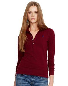 Skinny Stretch Polo Shirt - I love long sleeve polos!