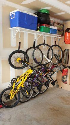 Bike rack from crib rails bike forums abode garage do it yourself bike rack diy bikerack garage solutioingenieria Images