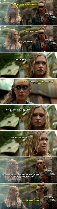 dying! Except now Lexa's dead too...and its less funny...