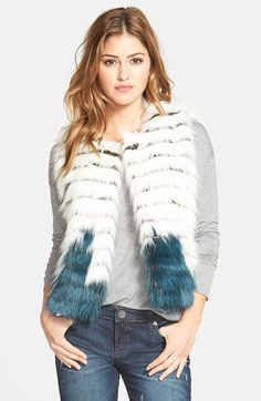 Kristen Blake Tiered Faux Fur Vest available at #Nordstrom
