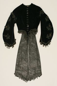 Jacket Date: 1860–65 Culture: American or European Medium: silk, jet Accession Number: 1978.477.2