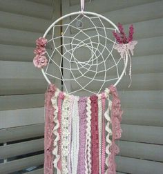 Pink and Cream Dream Catcher