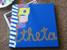 Lilly Pulitzer inspired rope painting with sorority letters or name