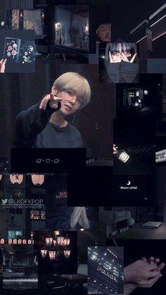 Black Aesthetic Wallpaper, Aesthetic Iphone Wallpaper, Aesthetic Wallpapers, K Wallpaper, Bts Backgrounds, Aesthetic Collage, Bts Lockscreen, Bts Photo, Bts Pictures