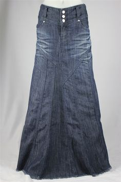 Gorgeous Flares Long Jean Skirt, Sizes 6-18: theskirtoutlet.com