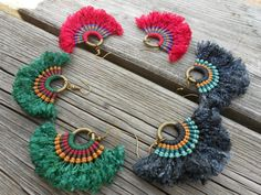 Macrame earrings African inspiration. You can by PrincipiArt