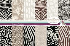Check out Natural Animal Digital Patterns N.3 by Blixa 6 Studios on Creative Market