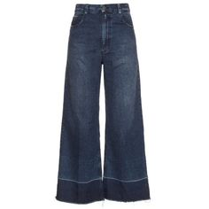 Rachel Comey Legion jeans ($414) ❤ liked on Polyvore featuring jeans, pants, trousers, bottoms, indigo, high-waisted jeans, denim jeans, high waisted jeans, blue jeans and wide leg denim jeans