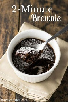 2-Minute Brownie | Travel Cook Tell