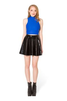 Matte Royal Blue High Neck Crop (WW $35AUD / US $30USD) by Black Milk Clothing