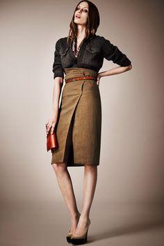 high-waist pencil skirt fall fashion [design]relevant