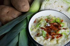 Traditional Irish Colcannon Recipe with Bacon and a Paleo version with turnips and parsnips #stpattys
