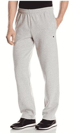 Champion Men's Powerblend Open Bottom Fleece Pant, Oxford Gray, M Reduced pill and shrinkage for a great fit wash after wash Soft, comfortable fleece fabric Drawstring for adjustability Wider rib cuff and hem Side pockets for storage Fleece Pants, Fleece Fabric, Post Workout Supplements, Look Good Feel Good, Going Out, Champion, Oxford, Pajama Pants, Sweatpants