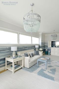 Design firm Mabley Handler Interior Design featured Fade 7226 Sea Spray in the game room of the 2016 Hamptons Holiday House.
