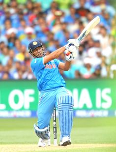 India v Pakistan, Pool B, Match 4 MS Dhoni began impressively but his wicket meant India couldn't step on the gas in the last five overs of the innings. Test Cricket, Icc Cricket, Cricket Sport, Ms Doni, History Of Cricket, Ms Dhoni Photos, Ms Dhoni Wallpapers, India Cricket Team, Cricket