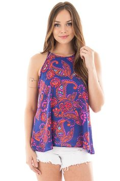 Lime Lush Boutique - Navy Halter Top with Rust and Magenta Paisley Print, $16.95 (https://www.limelush.com/navy-halter-top-with-rust-and-magenta-paisley-print/)