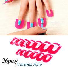 Nueva Belleza 26 unids/pack Protector de Esmalte de Uñas de Gel Creativo Cubierta de Esmalte de Uñas de Manicura Dedo Protector Resistente a Salpicaduras