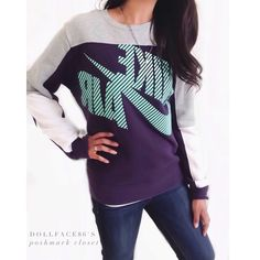 """Nike Vintage Style Pullover {actual color of item may vary slightly from photos}  •shoulders:21.5"""" •chest:20"""" •waist:18.5""""w •length:24.5"""" •sleeve:26""""  Material:100% cotton  ️machine wash  Fit:could work for medium  Condition:no rips no stains  ❌no holds ❌no trades ♥️️bundles of 3/more items get 20% off Nike Tops Sweatshirts & Hoodies"""
