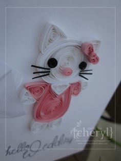 Hello kitty paper quill