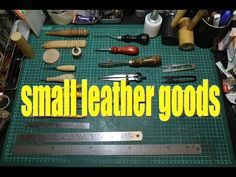 leather crafting tools - YouTube