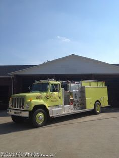 County Line Fire Department NC 1974 Howe Engine #yellow #pumper #tanker http://setcomcorp.com/prac.html