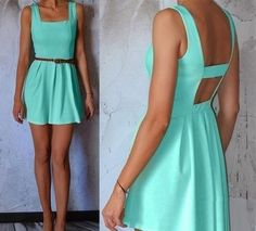 teal summer dress. ♡ would be cute to have in different colors