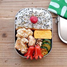 Japanese Lunch Box, Bento Box, School Lunch, Everyday Food, Asian Recipes, Cobb Salad, Yummy Food, Meals, Dishes