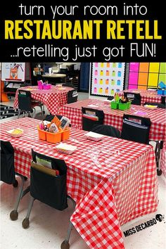 Retelling activities for a theme day called Restaurant Retell! Host a book buffet, make a retelling sandwich craft, order off of a reading menu with retelling reading passages, and more! Summarizing Activities, Retelling Activities, First Grade Activities, Comprehension Activities, Reading Comprehension, Guided Reading Activities, Listening Activities, Camping Activities, Stem Activities