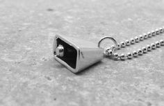 Cowbell Necklace Sterling Silver by GirlBurkeStudios on Etsy, $25.00