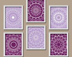 Modern Floral Wall Art Purple Teal Aqua Lavender Girl Bedroom Wall Decor Flower Prints Baby Girl Nursery Decor Tween Toddler Bedroom Prints Pinterest