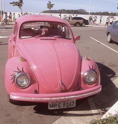 Pink BUG VW ☆ Girly Cars for Female Drivers! Love Pink Cars ♥ It's the dream car for every girl ALL THINGS PINK!