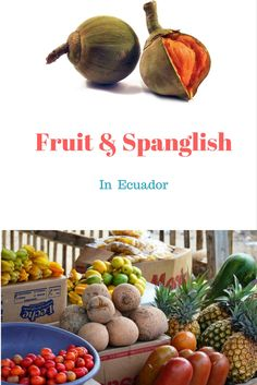 Learning about exotic fruit in Ecuador, with a silly Spanish lesson!