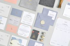 Sanlo stationery with gold foil print finish by Firmalt.