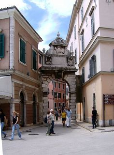 Rovinj, Croatia Beautiful arch,  steeped in history