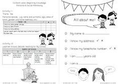 grade 1 beginning knowledge term 1 test worksheet - Google Search Skills To Learn, Learning Skills, Social Well Being, Content Area, Good Company, Grade 1, Worksheets, Knowledge, Activities