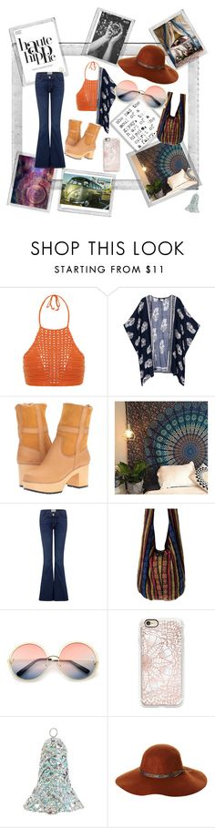 """Haute Hippie"" by girlie87 ❤ liked on Polyvore featuring Polaroid, Haute Hippie, Spiritual Hippie, Swedish Hasbeens, Current/Elliott, ZeroUV, Casetify, Shea's Wildflower Company and Fallenbrokenstreet"