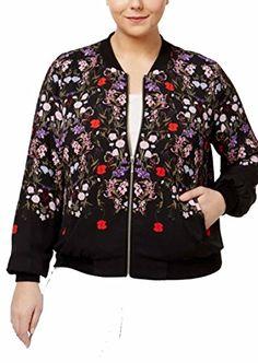 02a304bd964d INC International Concepts Plus Size Floral-Print Bomber Jacket. queenar · Women s  Coat Plus Size