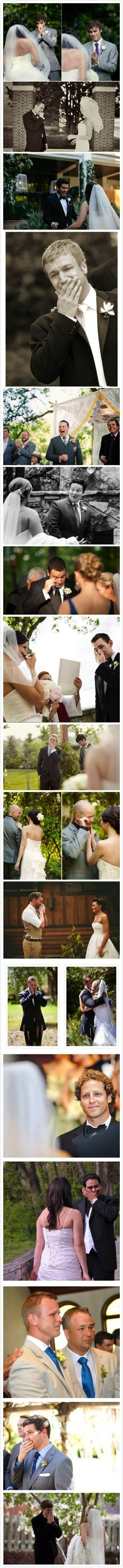 The first time my husband sees me walking down the isle... Thats the picture I want
