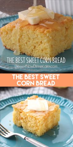 bread recipes sweet This is the BEST sweet corn bread recipe! Its sweet, moist, buttery, and light thanks to an additional technique. It will quickly become your favorite sweet corn Cornbread Recipe From Scratch, Southern Cornbread Recipe, Jiffy Cornbread Recipes, Moist Cornbread, Buttermilk Cornbread, Homemade Cornbread, Cornbread Recipe Without Cornmeal, Corn Light Bread Recipe, Sweets