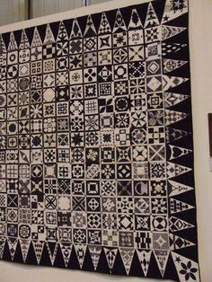 Black and white...and don't forget the gray (which makes the quilt).